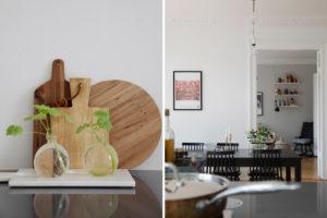 Dettagli sala da pranzo scandinava