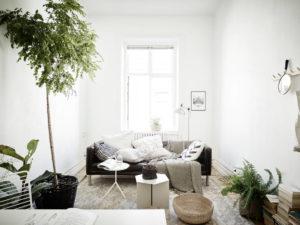 Salotto con divano scandi