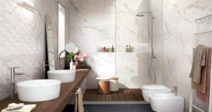 esempi pavimento gres porcellanato effetto marmo