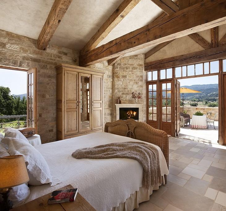 Camera da letto per casa di campagna