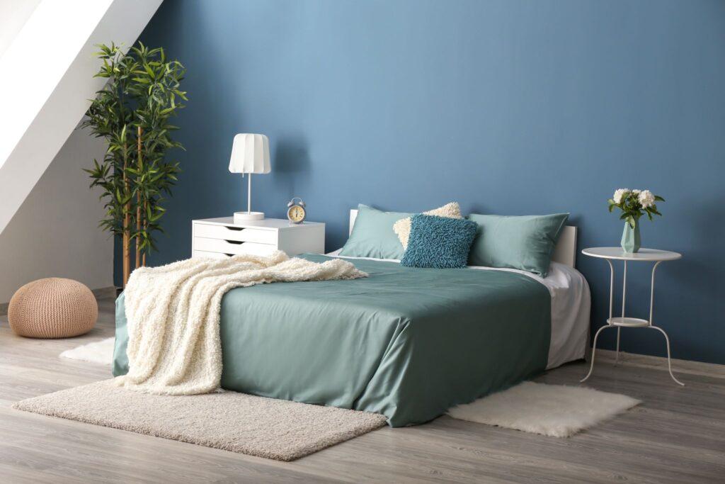 Azzurro pareti camera da letto