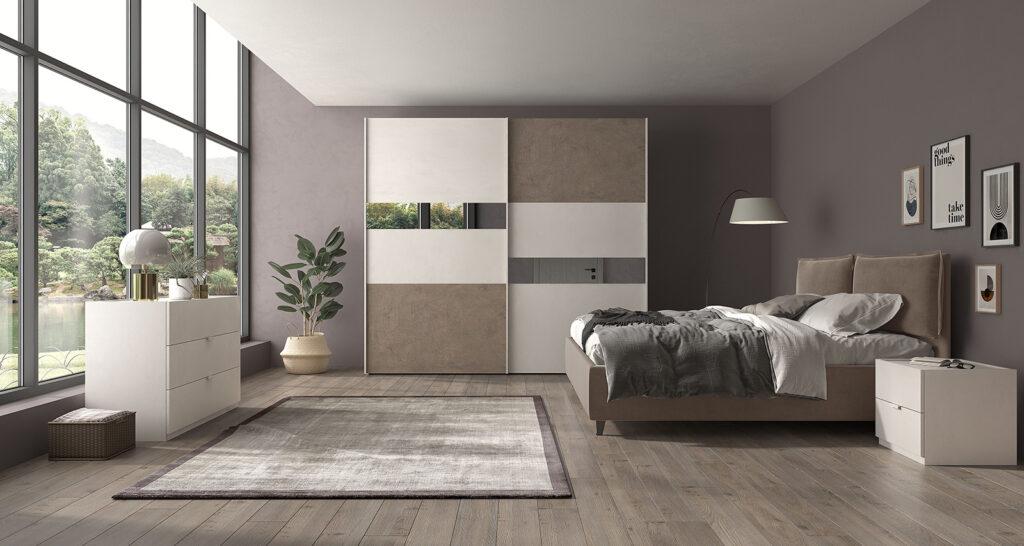 Colore marrone pareti camera da letto