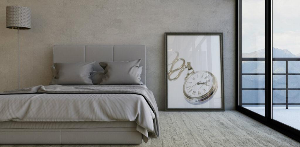 Colori pareti camera da letto grigio chiaro