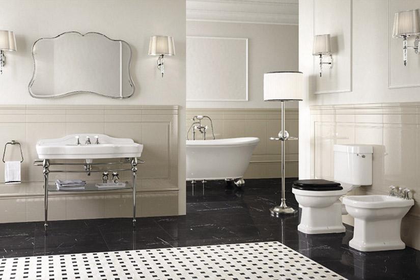Esempi sanitari bagni stile inglese