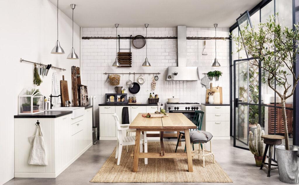 Cucina Ikea ad angolo