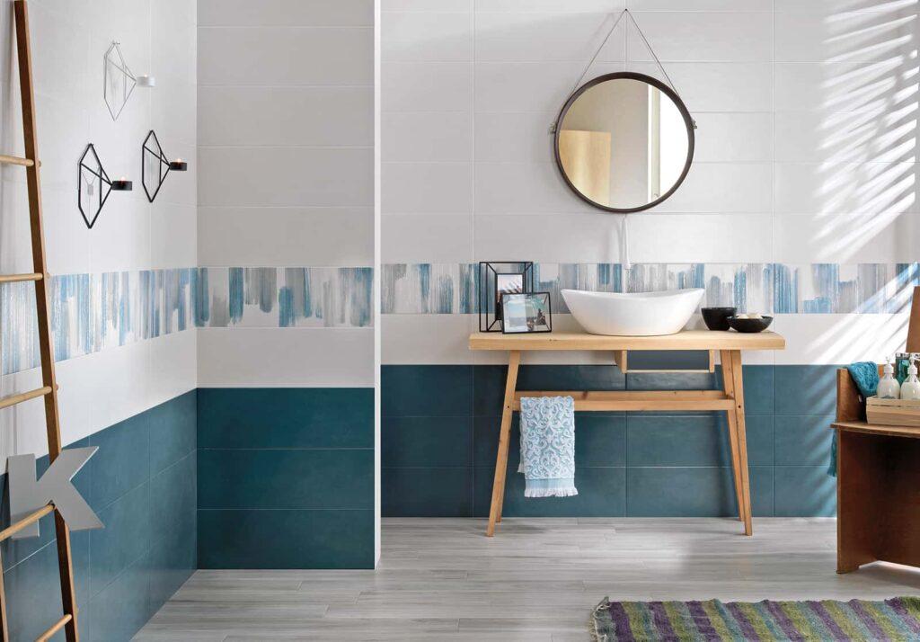 Come pitturare il bagno: il blu
