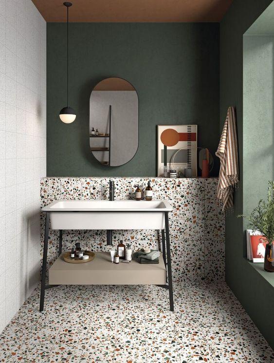 Colore tendenza pitturare il bagno