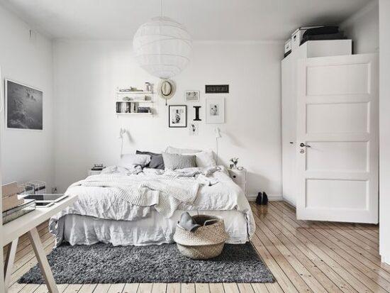 Stanza da letto scandinava