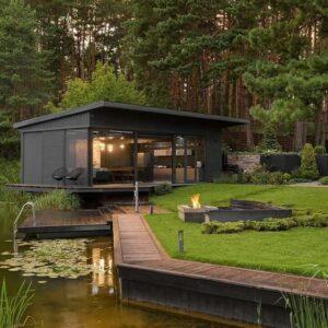 Casa ecologica nel bosco