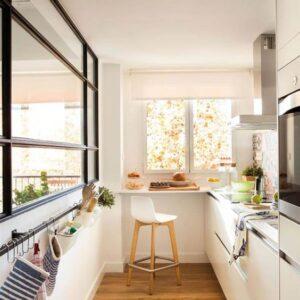 cucina lunga e stretta