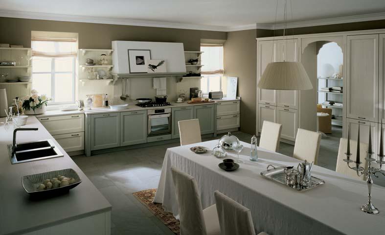 cucina grande classica con angolo