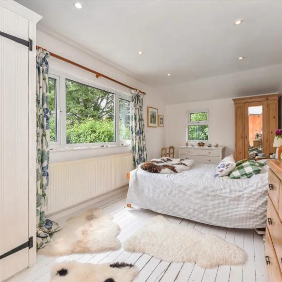 Camera da letto stile british