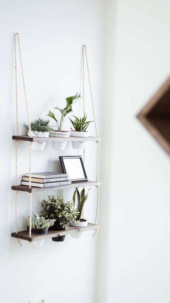idee scaffali per piante