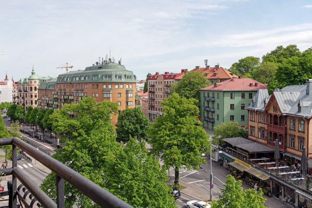vista salotto casa svedese